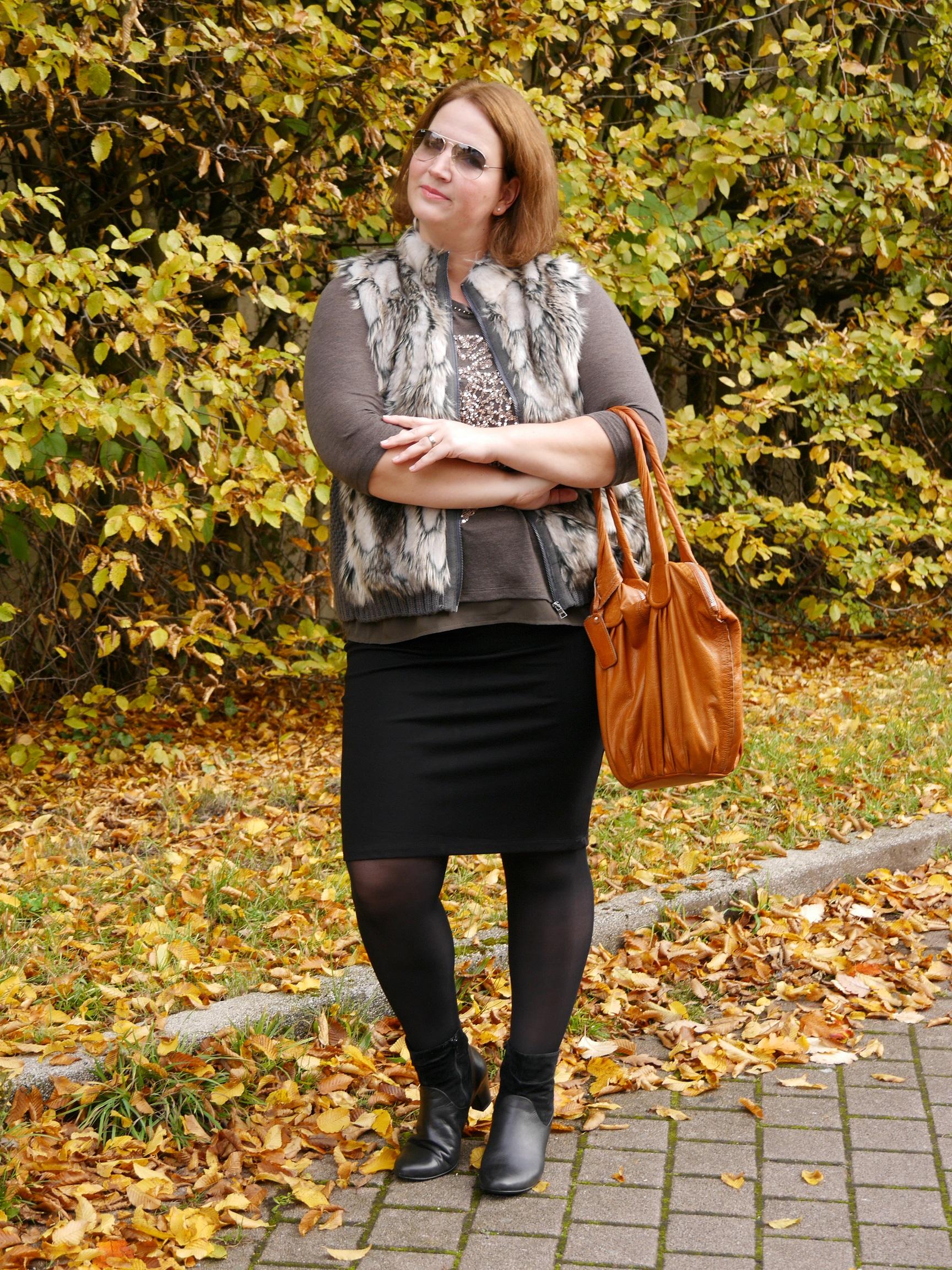 Herbstlook Fellweste