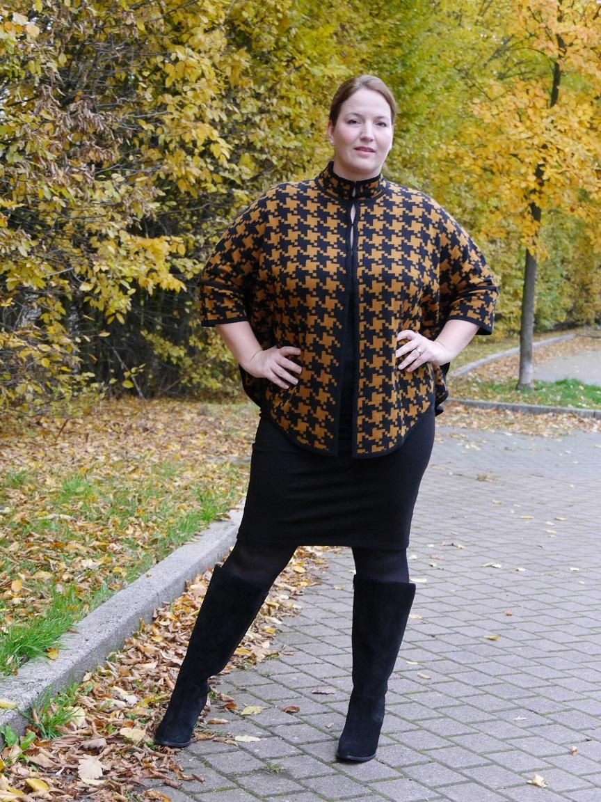 GERMAN CURVES: Style dein Keypiece der Saison: Mein Hahnentritt-Cape