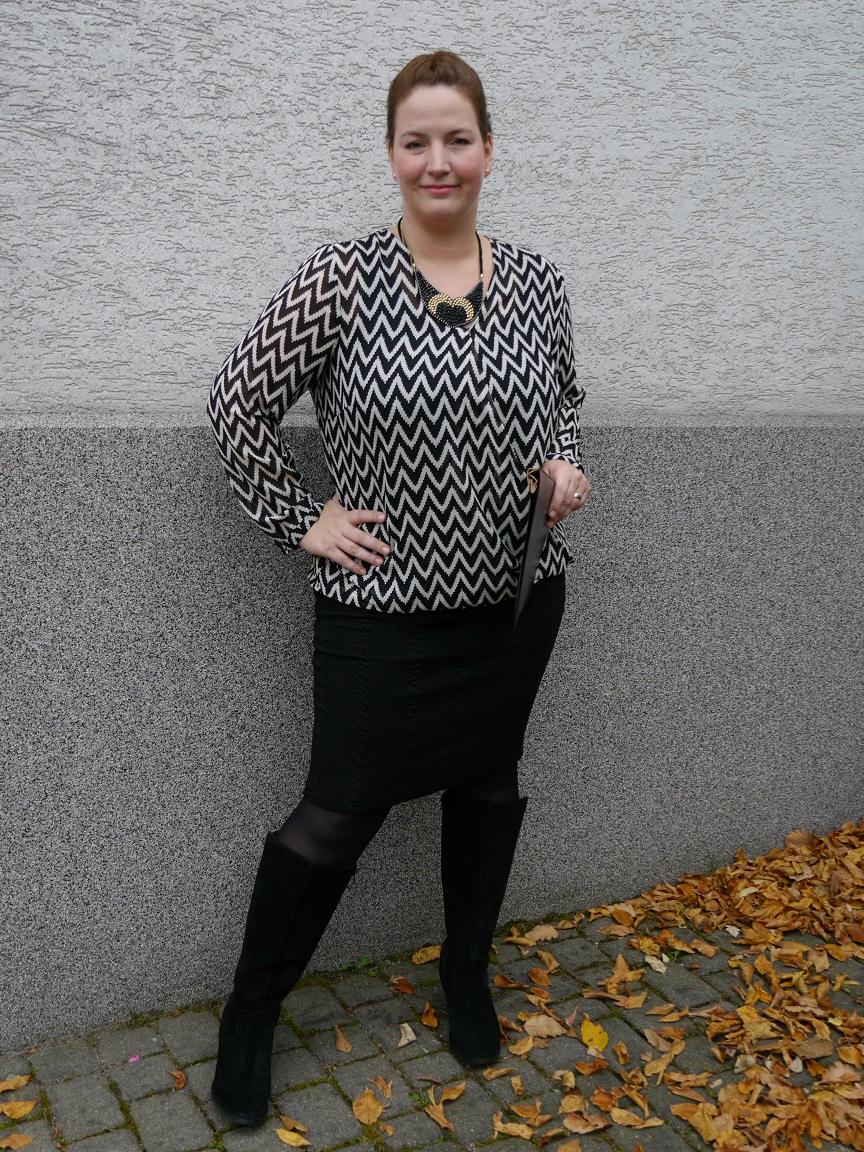 Bleistiftrock mit Sheego-Bluse